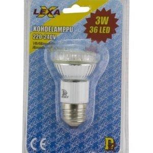 Led-Kohdelamppu 3w 36 Led 30 000h Gu10 Lexxa Greenx