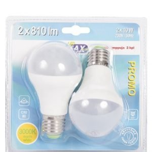 Led-Lamppu E27 10w 2kpl Led Max