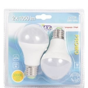 Led-Lamppu E27 12w 2kpl Led Max