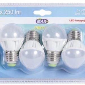 Led-Lamppu E27 3w 4kpl Led Max