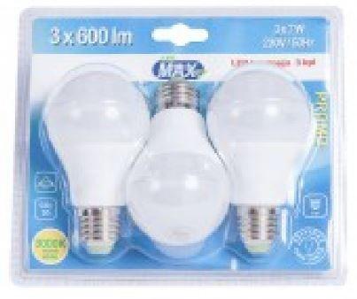 Led-Lamppu E27 7w 3kpl Led Max