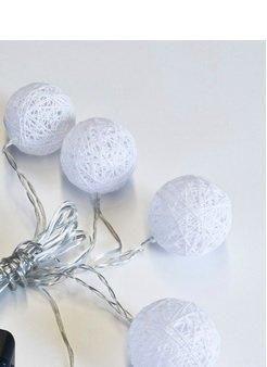 Led-Pallosarja 10 Palloa Valkoinen Crystal Decors