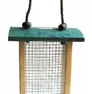 Linnunsyöttöteline Puinen Teräsverkolla