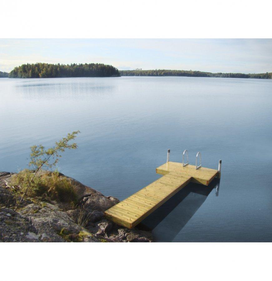 Lip-Lap Laituri Pikkulikka T-Pääty Koottuna Kahdeksi 250 Cm Pylväspituudella Vihreä