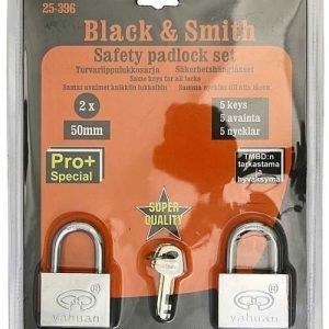 Lukkosarja 2kpl Black & Smith