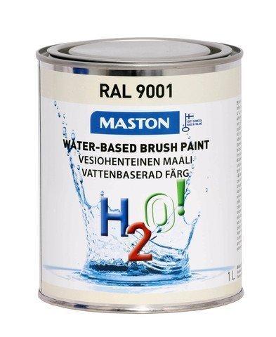Maali Kermanvalkoinen Ral9001 1l Maston H2o!