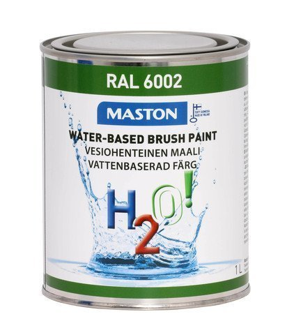 Maali Lehdenvihreä Ral6002 1l Maston H2o!