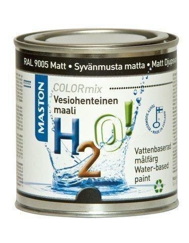 Maali Matt - Syvänmusta Matta Ral9005 250ml Maston H2o!