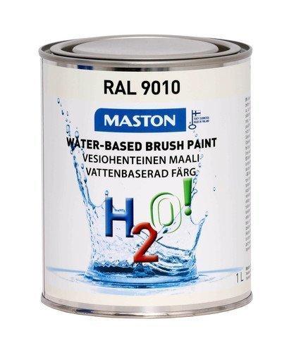 Maali Puhtaanvalkoinen Ral9010 1l Maston H2o!
