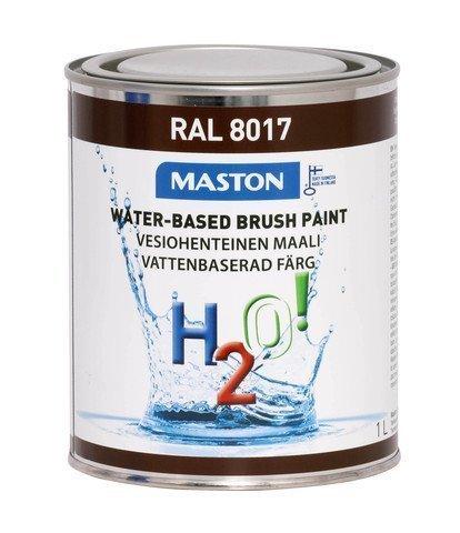 Maali Suklaanruskea Ral8017 1l Maston H2o!