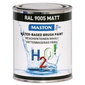 Maali Syvänmusta Matta Ral9005 1l Maston H2o!