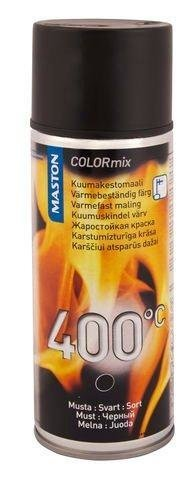 Maston Kuumakestomaali Musta 400°C 400 Ml