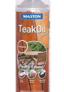 Maston Teak Oil Spray Puuöljy 500 Ml