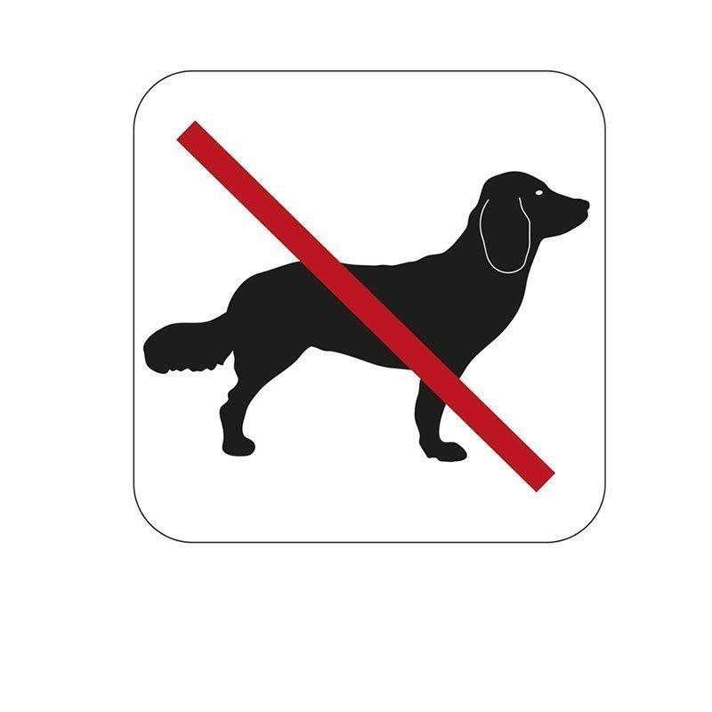 Merkki Habo koirat kielletty Valkoinen|Musta