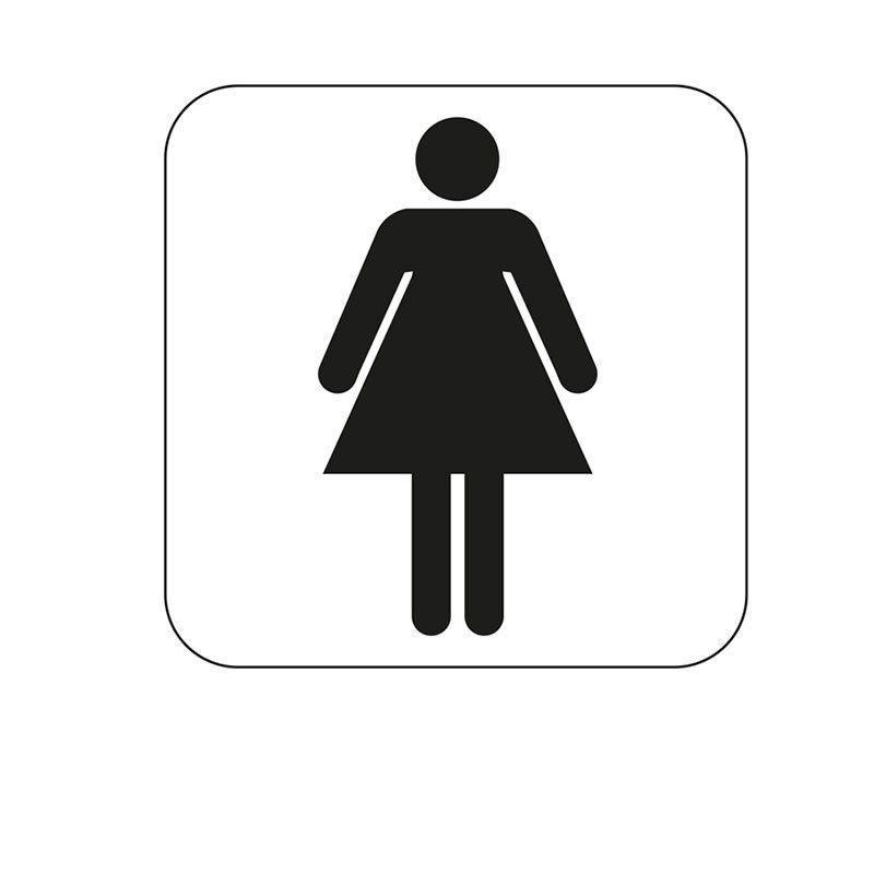 Merkki Habo naisten WC Valkoinen|Musta