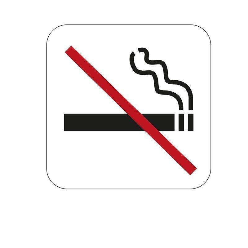 Merkki Habo tupakointi kielletty Valkoinen|Musta