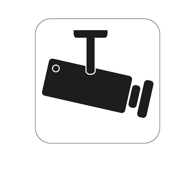 Merkki Habo videovalvonta Valkoinen|Musta