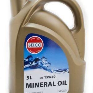 Mineraalimoottoriöljy 15w-40 5l Belco