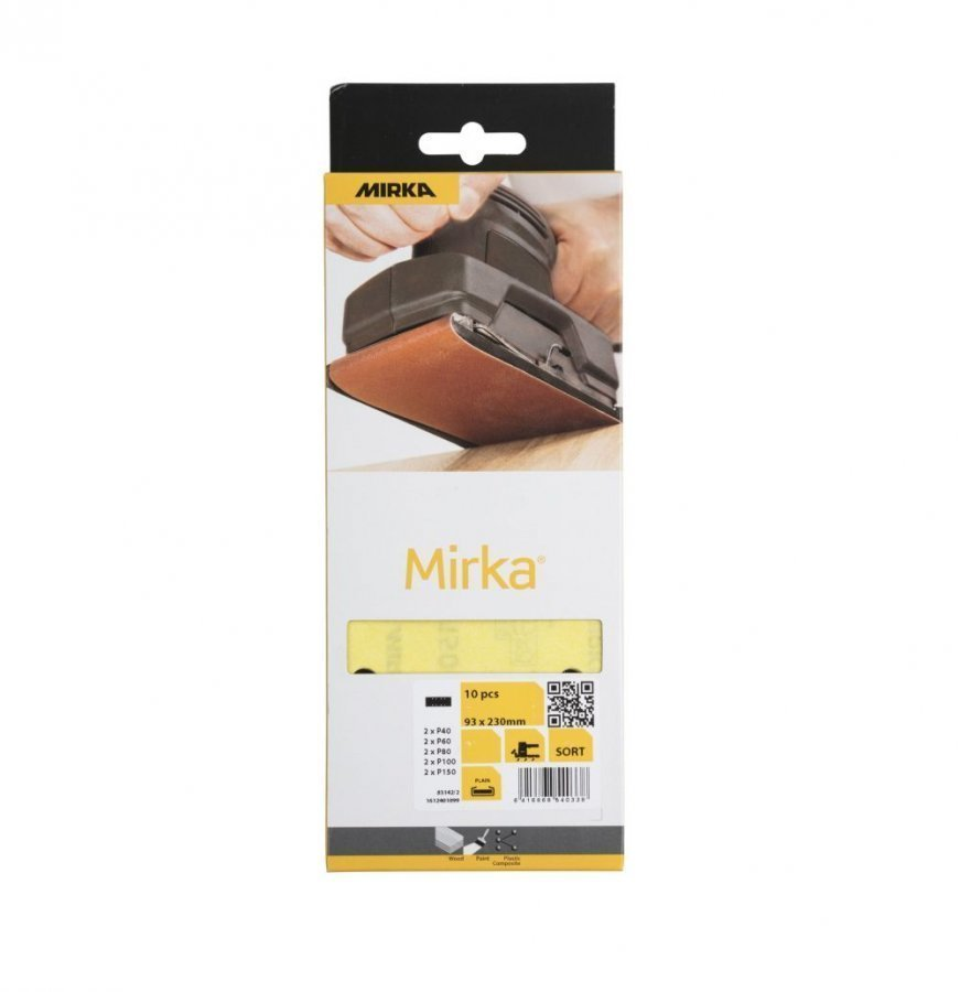 Mirka Hiomaliuska 93 X 230 Mm 10 Kpl 8r Keltainen