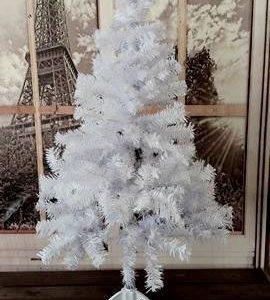Muovinen Joulukuusi 120cm Valkoinen