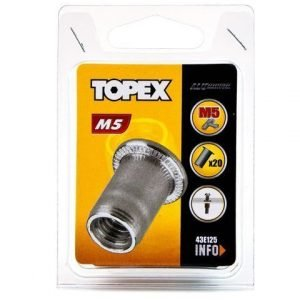 Mutteriniitti 20 Kpl M5 Topex