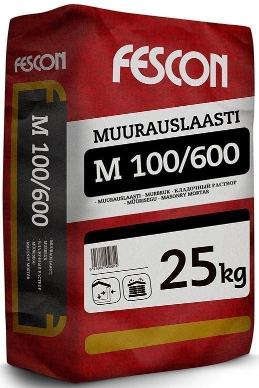 Muurauslaasti Fescon M 100 / 600 25 kg säkki