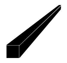 Neliötanko teräs 10x10 mm S235JR pituus 6 m
