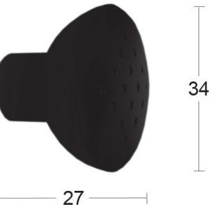 Nuppi 873-34 Musta Habo