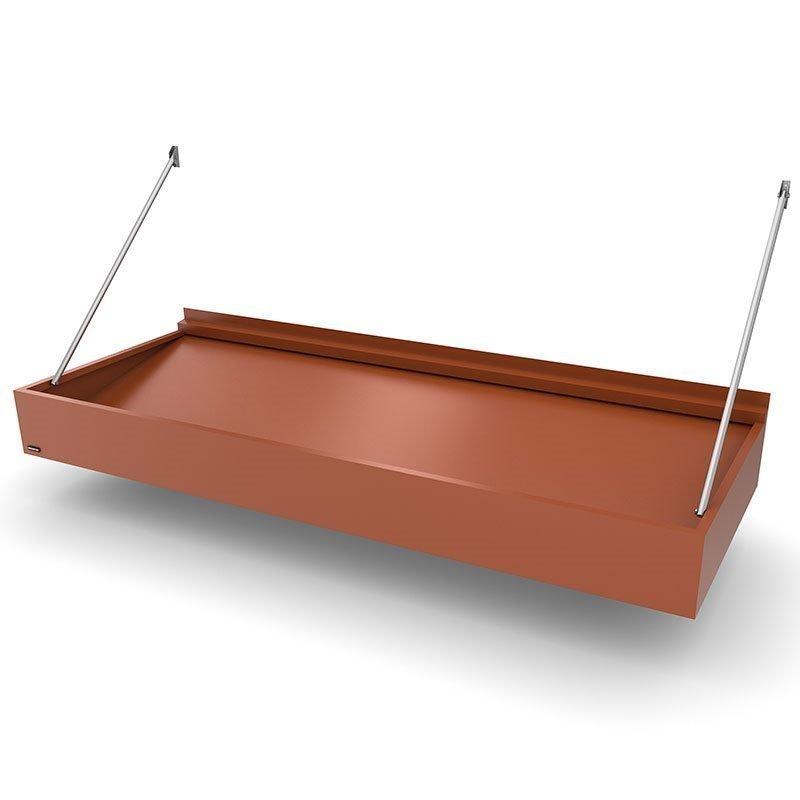 Ovikatos Box Modern Tiilenpunainen