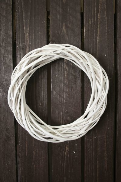 Pajukranssi 30cm Valkoinen