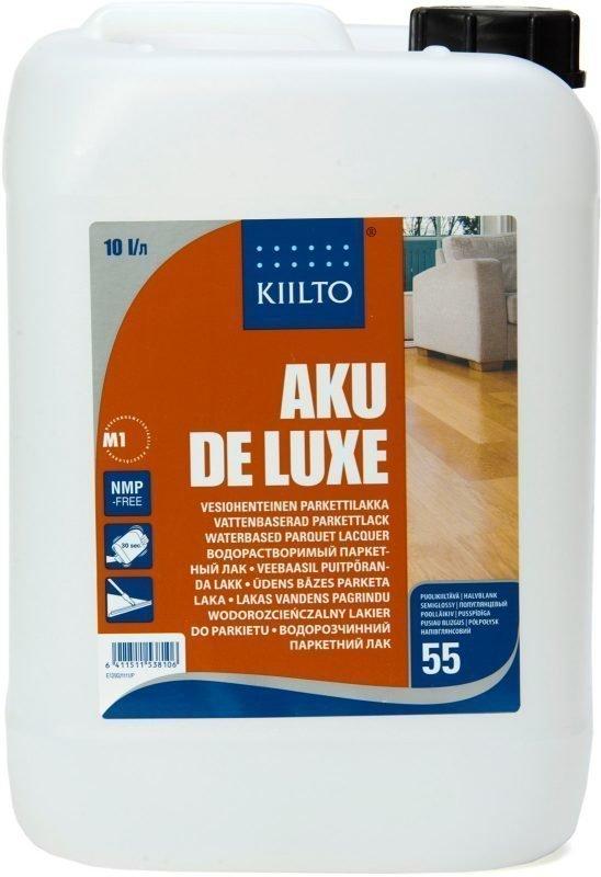 Parkettilakka Kiilto Aku De Luxe 10 l puolihimmeä