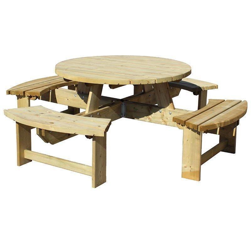 Penkkipöytä pyöreä JABO