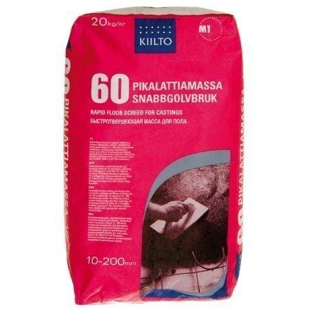 Pikalattiamassa Kiilto 60 10-200 mm 20 kg