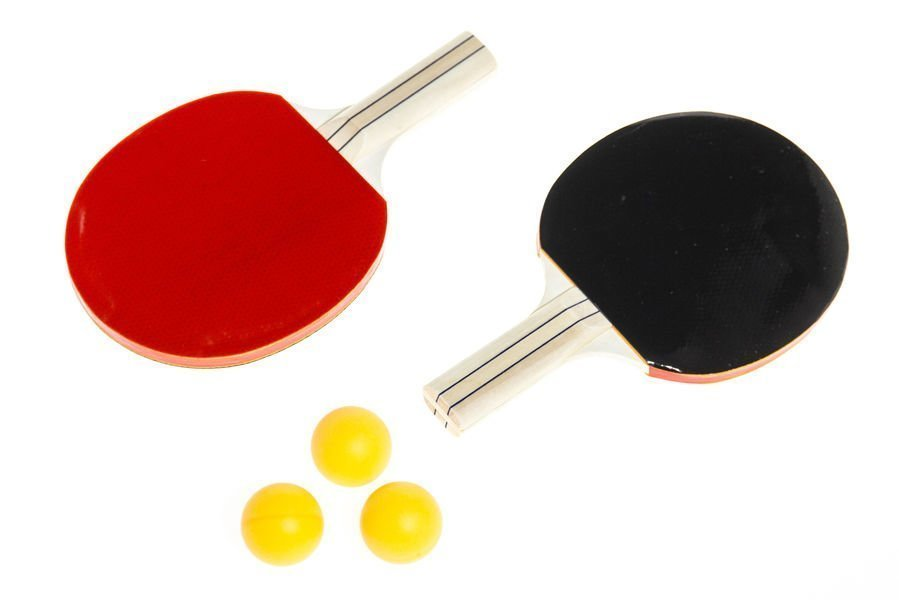 Pingissetti 2 Mailaa + 3 Palloa Atom Sports