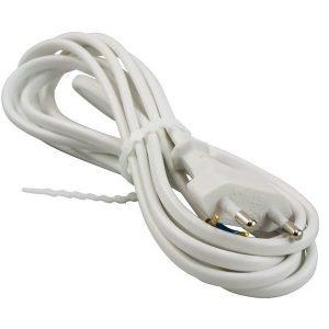 Pistotulppajohto Valkoinen Electrogear