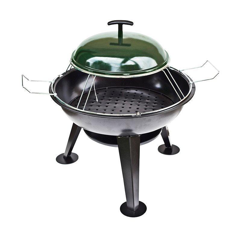Pizzagrilli BBQ grill Firebowl Musta