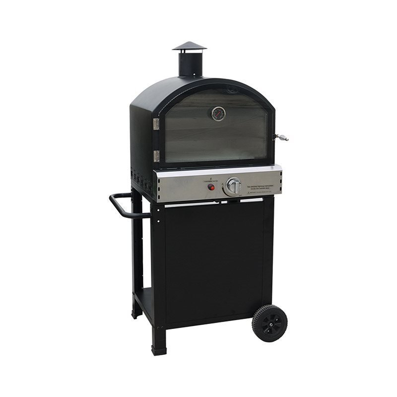 Pizzauuni BBQ grill gas Fresno Harmaa