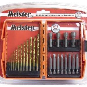 Poranteräsarja & Ruuvauskärkisarja 24-Os Meister Line
