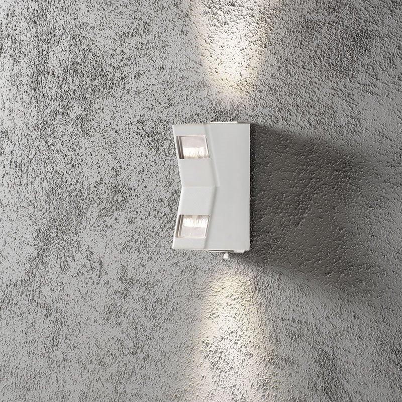 Potenza-seinävalaisin Konstsmide Valkoinen