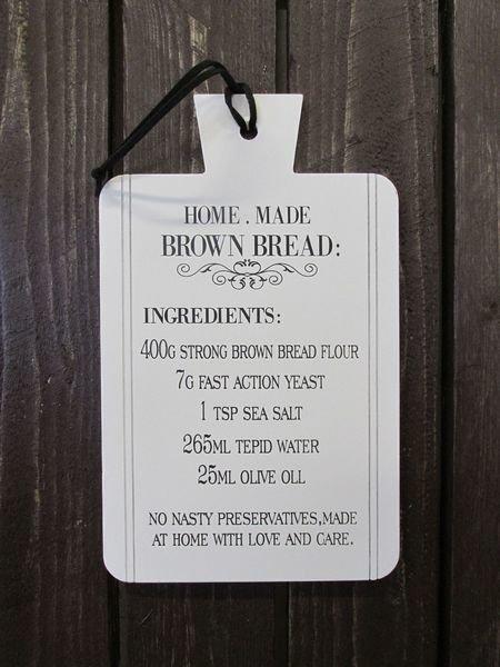 Puukyltti 31x19cm Bread Lily's Home
