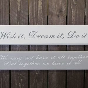 "Puukyltti 58x11cm Harmaa  ""We May Not Have It All Together But Together We Have It All"" 4living"