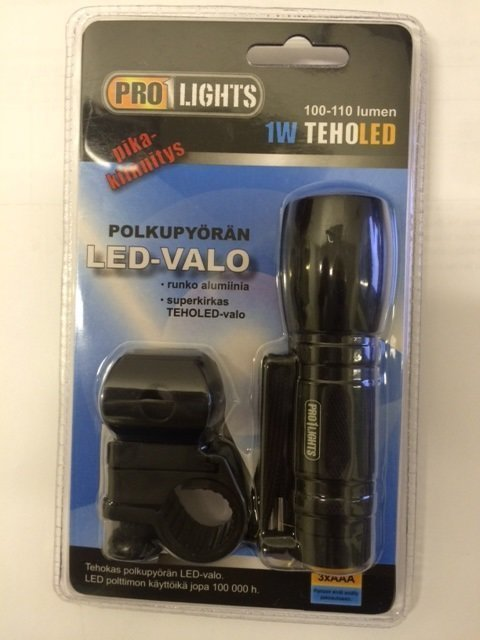 Pyöränvalo/Taskulamppu 1w Teholed 100-110lumen Pro1lights
