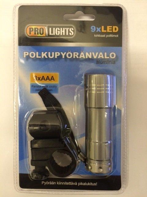 Pyöränvalo/Taskulamppu 9xled Pro1lights