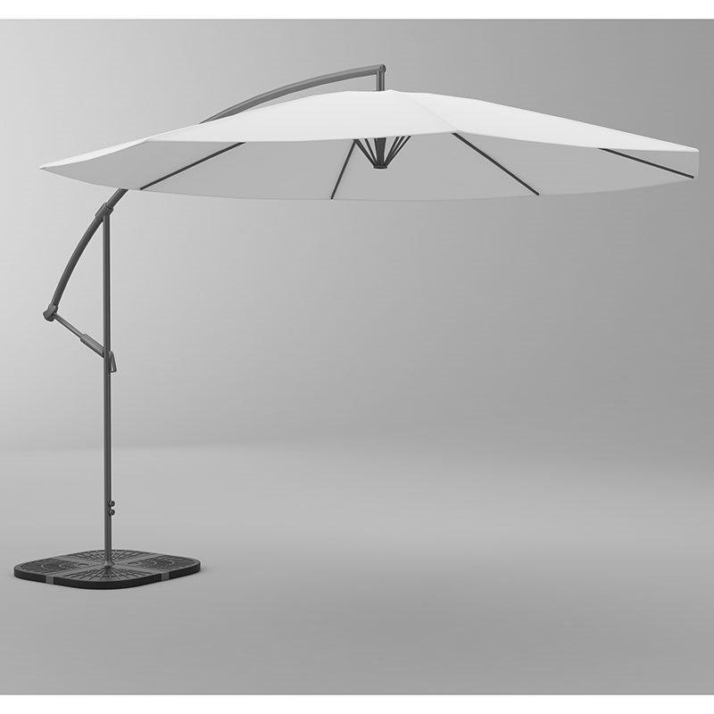 Riippuva aurinkovarjo Valkoinen