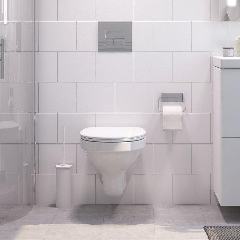 Seinä-WC Cersanit Slim&Silent Valkoinen