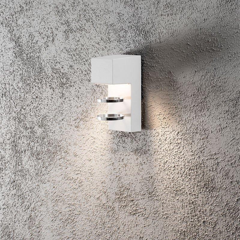 Seinävalaisin Acerra Konstsmide Valkoinen