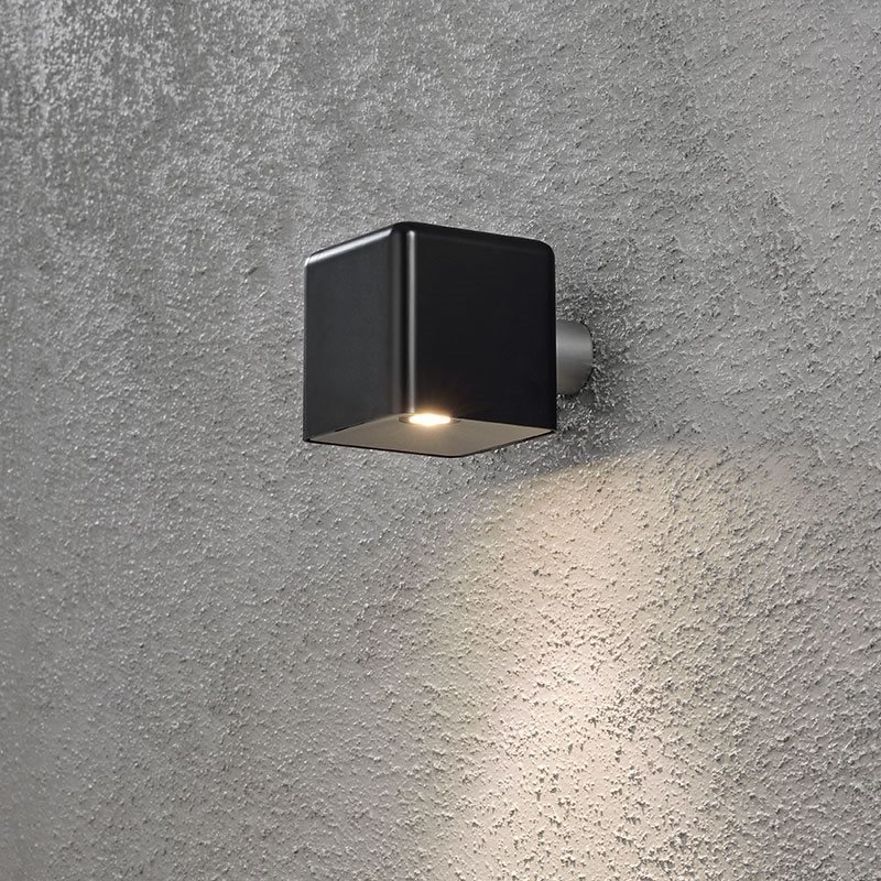 Seinävalaisin Amalfi Konstsmide Musta
