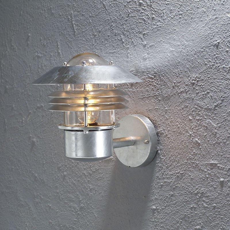 Seinävalaisin Parma PIR Konstsmide Metallinen