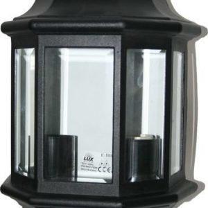Seinävalaisin / Ulkovalaisin Musta 2x60w Ip44 Lux Lite