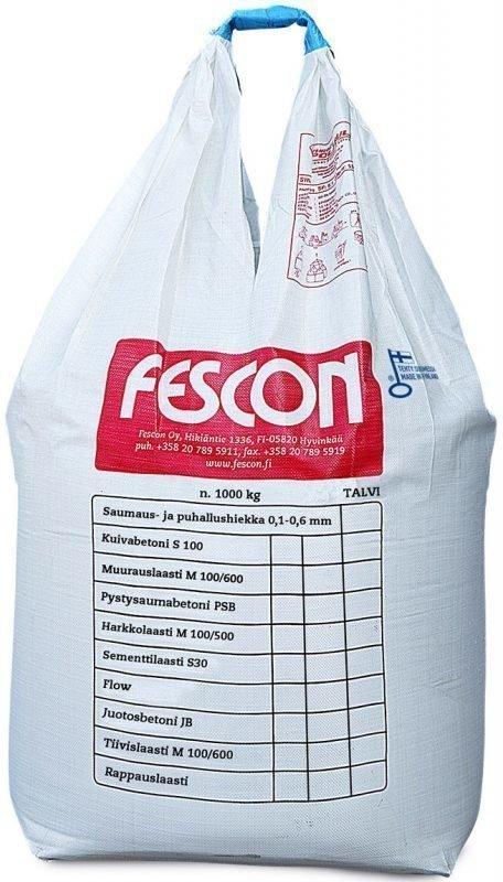 Sementtilaasti Fescon S 30 1000 kg suursäkki